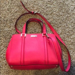 Lilly Pulitzer Hot Pink Double ZIP Shoulder Bag
